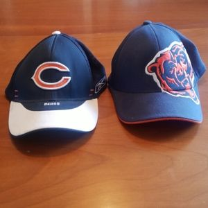2 Chicago Bears mens hats